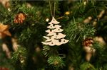 Wooden Christmas Tree with Stars Ornament For Christmas Tree Decoration