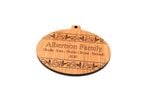 Classic Bulb Personalized Christmas Wooden Ornament