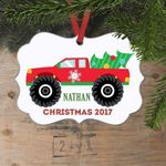 Monster Truck Gifts for Him Personalized Christmas Ornament