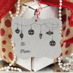 Gift Tag Stamp Personalized Christmas Ornament To/From