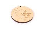 Basketball Personalized Christmas Wooden Ornament