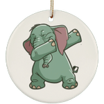 Elephant Christmas Tree Ornaments, Funny Dabbing Gifts for Animal Dance Lovers