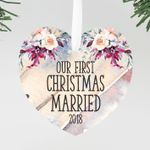 Our First Christmas Married Ornament, Custom Ornament