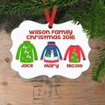 Christmas Ornament Personalized Family Ugly Sweaters Family Stocking Stuffer