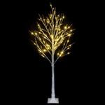 6FT Snowflake Artificial Christmas Tree with 96 LED Lamp For Christmas Holiday Decor