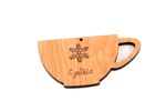 Coffee Cup Personalized Christmas Wooden Ornament