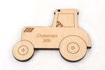 Tractor Personalized Christmas Wooden Ornament