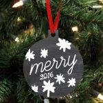 Merry Wood Personalized Christmas Ornament