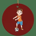 Floss Like a Soccer Boss Christmas Tree Ornaments, Floss Dancing Gifts