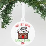 Aluminum Our First Home Richard & Julie Personalized Christmas Ornament