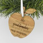 Personalized Engraved Teacher Christmas Wood Ornament, Custom Christmas Ornament