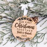 First Christmas Together Ornament, Custom Name and Year Ornament