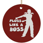 Floss Like A Boss Christmas Tree Ornaments, Gifts for Dancers