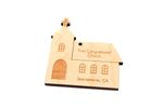 Church Personalized Christmas Wooden Ornament