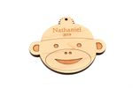 Monkey Personalized Christmas Wooden Ornament