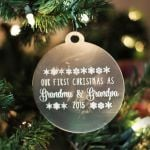 Personalized Ornament Grandparent's First Christmas
