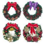 Artificial Christmas Unlit Wreath 15.75'' Door Wall Ornament For Home Decor