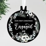 Our First Christmas Engaged Ornament, Personalized Christmas Ornament
