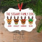 Gift Idea Reindeer Personalized Christmas Ornament