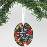 "Personalized Aluminum Ornament - ""First Christmas As Mr & Mrs"""