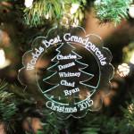 Personalized Ornament World's Best Grandparents