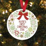 Baby's First Christmas Ornament Baby Personalized Christmas Ornament Gift