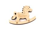 Rocking Horse Personalized Christmas Wooden Ornament