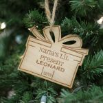 Personalized Engraved Wood Ornament Nana's Lil Present - Leonard