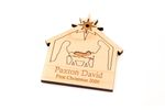 Nativity Home Personalized Christmas Wooden Ornament