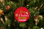 Merry Christmas Mother Cluckers Acrylic Christmas Ornament Tree Decoration
