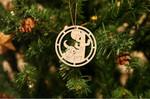 Buffalo Skull Christmas Wooden Ornament Christmas Tree Decoration