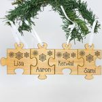 Family Name Puzzle Personalized Christmas Ornament