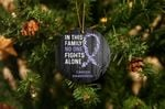 Cancer Awareness No One Fights Alone Acrylic Ornament Christmas Tree Decoration