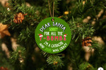 Santa F-Bomb I'm Catracho Christmas Ornament
