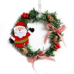 Artificial Santa Christmas Unlit Wreath 5.91'' Ornament For Home Decor