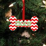 "Personalized Wood Ornament - ""Ziggy Bone"""