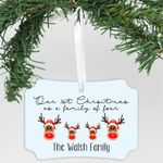 """Personalized Aluminum Ornament - """"The Walsh Family"""""""