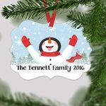 Personalized Snowman Christmas Ornament Family Christmas Gift