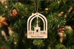 Denver Temple Wooden Ornament For Christmas Tree Decoration
