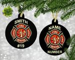 Personalized Fireman Ornament, Fireman Christmas Gifts