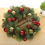 Artificial Christmas Unlit Wreath 15.75'' Ornaments Hanging For Home Decor