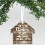 """Personalized Wooden Ornament - """"Our First Home"""""""