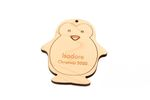 Cute Penguin Personalized Christmas Wooden Ornament