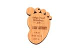 Baby Footprint Personalized Christmas Wooden Ornament