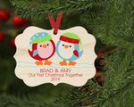 Our First Christmas Together Ornament Bird Custom Personalized Christmas Ornament