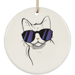American Wirehair Cat Christmas Tree Ornaments, Cat Lover Gifts