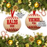 Custom Baseball Ornament, Personalized Name Ornament