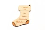 Stocking Personalized Christmas Wooden Ornament