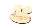 Cute Bumblebee Personalized Christmas Wooden Ornament