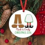 Couples Custom Personalized Christmas Ornament Decoration